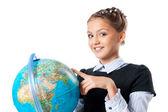 Globe tenue écolière — Photo
