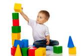 Garçon avec des blocs — Photo