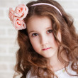 Portrait of a beautiful little girl — Foto de Stock