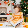 Stock Photo: Girl reads a book