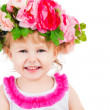 Beautiful child wearing a crown — Stock Photo