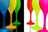 Multi-coloured glasses — Fotografia Stock