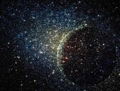 Stars clusters on the background of vast cosmic sphere — Stock Photo