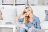 Studium-žena — Stock fotografie