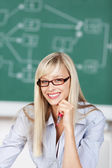 Toothy smile teacher — Stock Photo