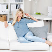 Happy Caucasian woman — Stock Photo