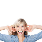 Shouting woman — Stock Photo