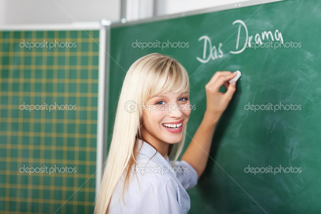 Blonde Lehrerin