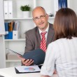 Stock Photo: Personal interview