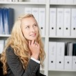 Thoughtful Businesswoman Looking Up — Stock Photo