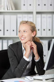 Smiling Young Blond Businesswoman Portrait — Stock Photo