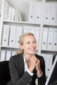 Smiling Young Blond Businesswoman — Stock Photo