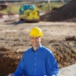 Businessman At Construction Site — Stock Photo #25843205