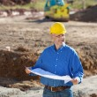 Businessman At Construction Site — Stock Photo