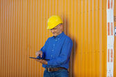 Male Architect Working With Digital Tablet — Stock Photo