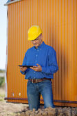 Male Architect With Digital Tablet — Stock Photo