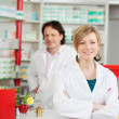 Stock Photo: Pharmacist with crossed arms