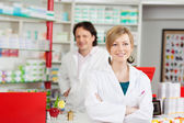 Pharmacist with crossed arms — Stock Photo