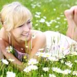 Beautiful woman enjoying the summer — Stock Photo #25872981