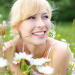 Joyful woman enjoying summer — Stock Photo #25875755