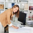 Woman Architect At Her Work Table — Stock Photo #25897393