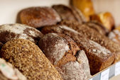 Different Breads In Coffee Shop — Stock Photo