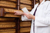 Pharmacist Chemist Woman With Prescription — Stock Photo