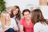 Friends Spending Time Together At Home — Stock Photo