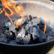 Fire And Coal In Barbecue — Stock Photo