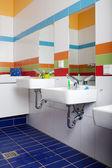 浴室配有接收器 — 图库照片