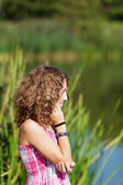 Teenage Girl Near A Lake — Stock Photo