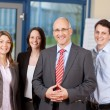 Confident Business Team Standing Together — Stock Photo