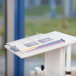 Binder On White Podium — Stock Photo