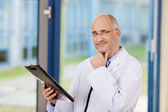 Doctor With Hand On Chin — Stock Photo