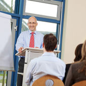 Businessman Giving Presentation To Coworkers — Stock Photo
