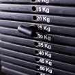 Close up of weights in a gym — Stock Photo