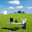 Resting businesspeople — Stock Photo
