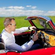 Man in convertible car — Stock Photo #26035055