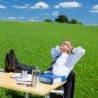Resting businessman — Stock Photo