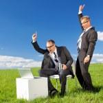 Happy businessmen — Stock Photo #26039691