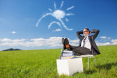 Break in meadow — Stock Photo