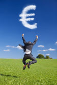 Euro Sign from the Clouds — Stock Photo