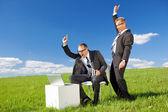 Happy businessmen — Stock Photo