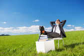 Resting businessman — Stockfoto
