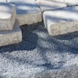 Paving stones on a construction site — Stock Photo