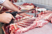 Beef carcass — Stock Photo