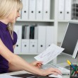 Stock Photo: Businesswoman at work