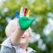 Colorful little hand — Stock Photo