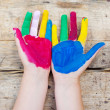 Painted hands — Stock Photo