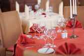 Table Setting In Restaurant — Stock Photo